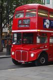 British Double Decker Bus. Red double decker bus in downtown London, England Royalty Free Stock Image