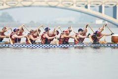 British Dragon Boat Race Team Royalty Free Stock Photography