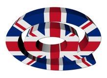 British e-mail address AT symbol Stock Image