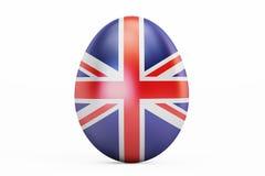 British Easter egg, 3D rendering Stock Photos