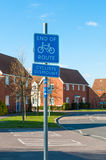 British End of Cycle Route sign Royalty Free Stock Photo
