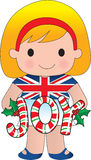 British/English Christmas Girl Stock Photography