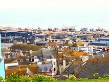 British English England Britain historical town Hastings Royalty Free Stock Photography