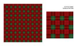 British fabric or plaid pattern. Vector seamless pattern. High detailed Scottish tartan, traditional checkered British fabric or plaid pattern. Design of fabric Stock Image