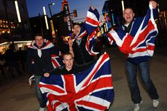 British Fans Stock Photography