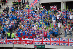 British fans on Davis Cup, BELGRADE, SERBIA JULY 16, 2016 Royalty Free Stock Photography