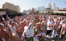 British fans during soccer world cup in Mallorca Stock Photo