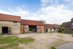British farm. Backyard and buildings of the old British farm Royalty Free Stock Photography