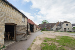 British farm. Backyard and buildings of the old British farm Royalty Free Stock Image