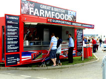 British Farmfoods mobile foods. A mobile showground food kiosk supporting British farming by selling British products at the UK motorhome and caravan Autumn Royalty Free Stock Photo