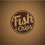 British fast-food - fish and chips. Vector Royalty Free Stock Image