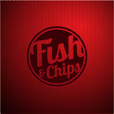 British fast-food - fish and chips. Vector Stock Photos