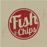 British fast-food - fish and chips. Vintage Royalty Free Stock Photo