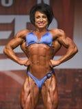 British Female Bodybuilder Shines in Toronto Contest Stock Image