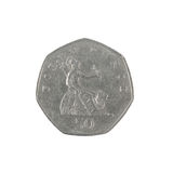 British fifty pence coin reverse Stock Photography