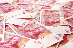 British Fifty Pound Banknotes Stock Photography