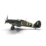 British Fighter Aircraft Hawker Hurricane on White Background Royalty Free Stock Photos