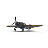 British Fighter Aircraft Hawker Hurricane on White Background Stock Image