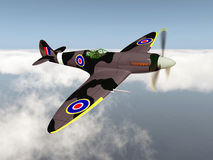 British fighter aircraft of World War II. Computer generated 3D illustration with a British fighter aircraft of World War II Stock Photography