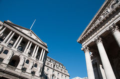 British financial institutions Royalty Free Stock Photo