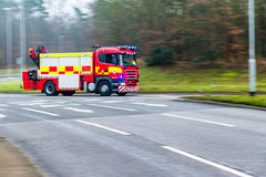 British Fire and Rescue Service on a mission Stock Images