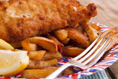 British fish and chips. Royalty Free Stock Image