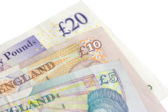 British five ten and twenty pound royalty free stock image