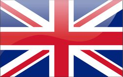 British flag. Vector illustration art