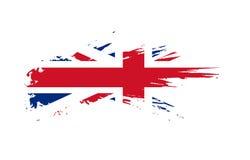 British flag. Grunge flag of British. Vector illustration Stock Photos
