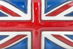 British flag. The luxury leather british flag stock image