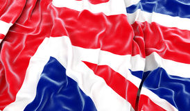 British flag. Waving british flag - 3D render stock photography