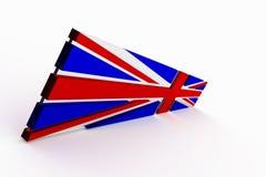 British Flag. Stylised 3d rendered British flag on light background stock illustration