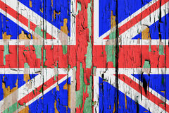 British Flag. A Grunge United Kingdom, British Flag Background with Peeling Paint stock image