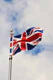 British Flag. In the wind Royalty Free Stock Photography