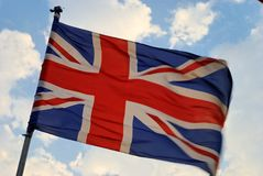 British Flag. Waves in the wind royalty free stock photo