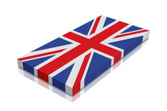 British Flag. 3d Render with reflection vector illustration