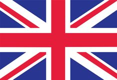 British Flag as Background. Flag of Great Britain. Vector EPS il. Lustration royalty free illustration