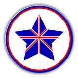 British flag as star icon. Vector United Kingdom star. Royalty Free Stock Image