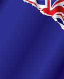 British flag background. Vector image of the british flag in the background on torn paper Royalty Free Stock Photography
