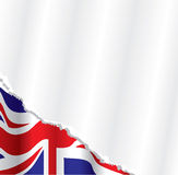 British flag background. Vector image of the british flag in the background on torn paper Stock Images