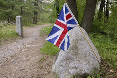 British Flag on Battle Road Stock Image