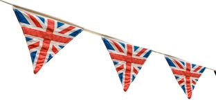 British Flag Bunting royalty free stock photography