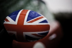 British flag on car wing mirror Stock Photography