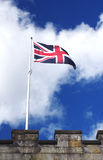 British Flag on Castle Wall Stock Images
