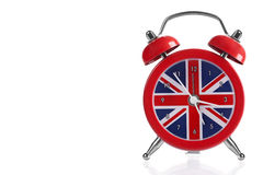 British Flag Clock. On white background royalty free stock photography