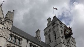 British flag on the clock tower. stock video footage