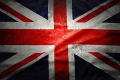 British flag. Closeup of grunge Union Jack flag Royalty Free Stock Photo
