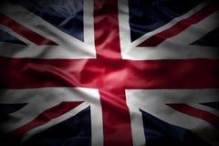 British flag. Closeup of Union Jack flag Royalty Free Stock Photo