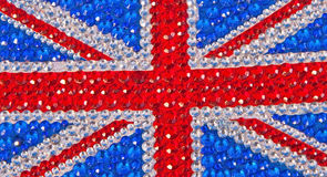 British flag designed with sparkle ! Royalty Free Stock Images