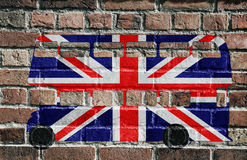 British flag, Double Decker Royalty Free Stock Photography
